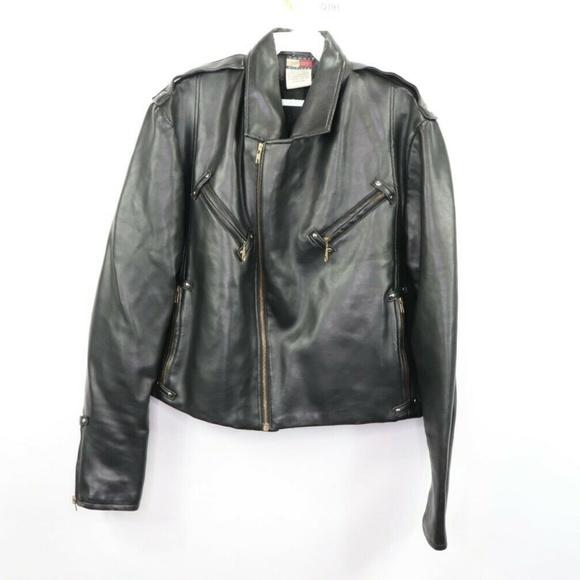 Vintage Tommy Hilfiger Faux Leather Moto Jacket